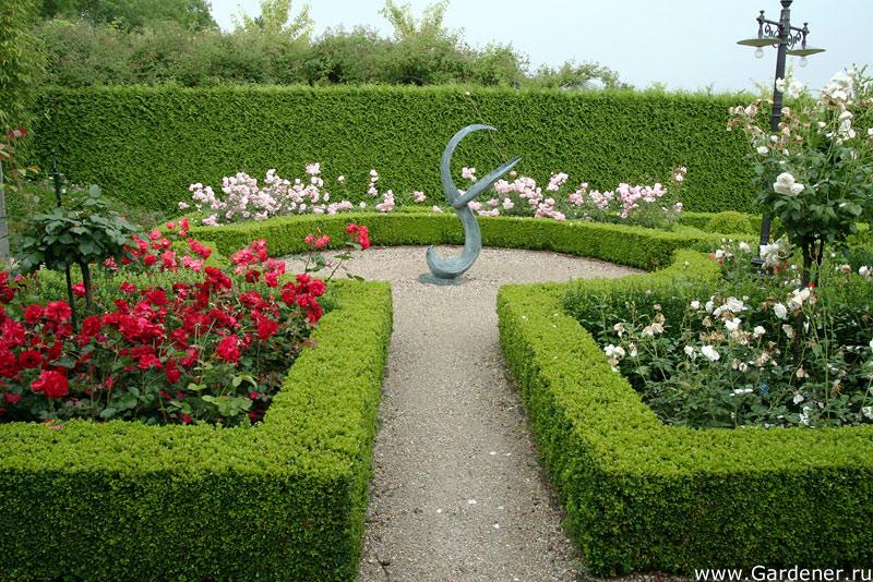 в оформлении садов,
